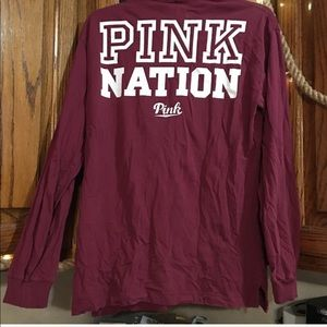 PINK Victoria's Secret Tops - 🌸VS PINK Long-Sleeve W/ Graphic Back!